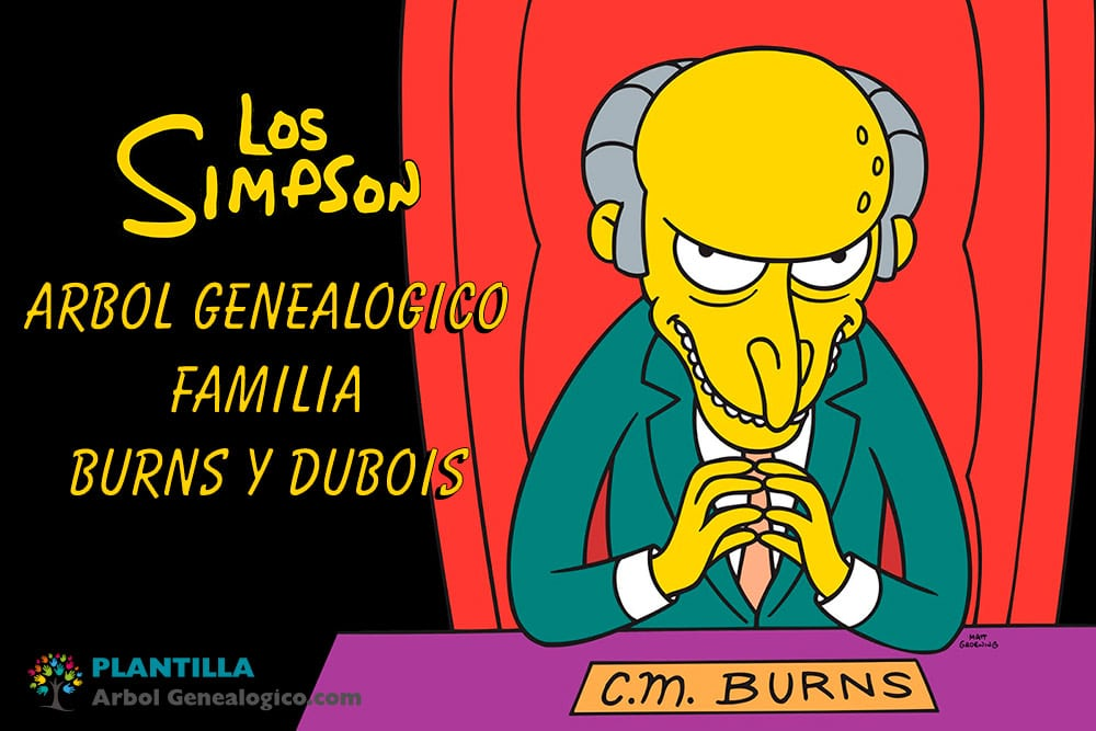 Árbol genealógico familia Burns - Dubois - Los Simpson