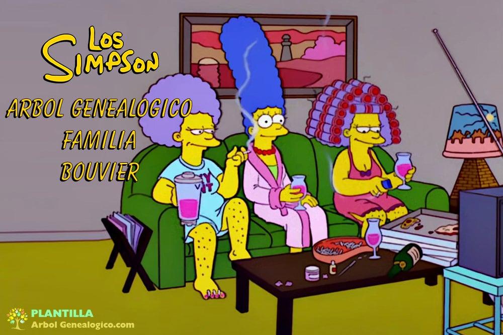 Árbol genealógico familia Bouvier - Los Simpson