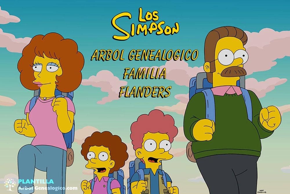 Arbol genealogico de la familia Flanders - Los Simpson