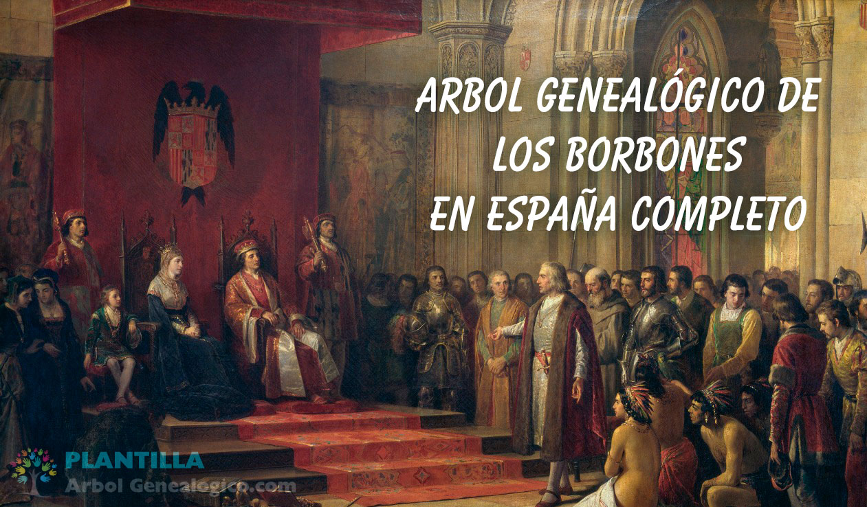 Árbol genealógico de Los Borbones en España Completo