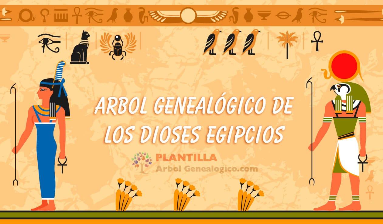 Árbol genealógico dioses Egipcios