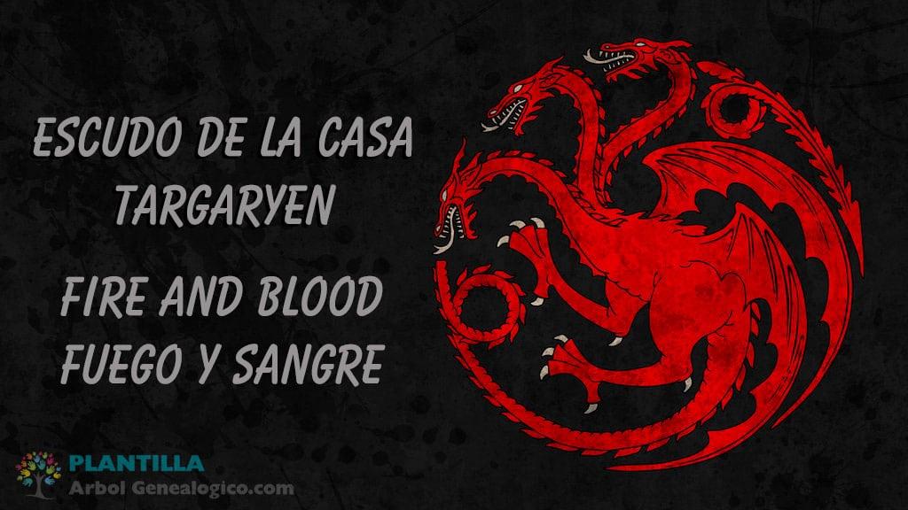 Escudo casa Targaryen