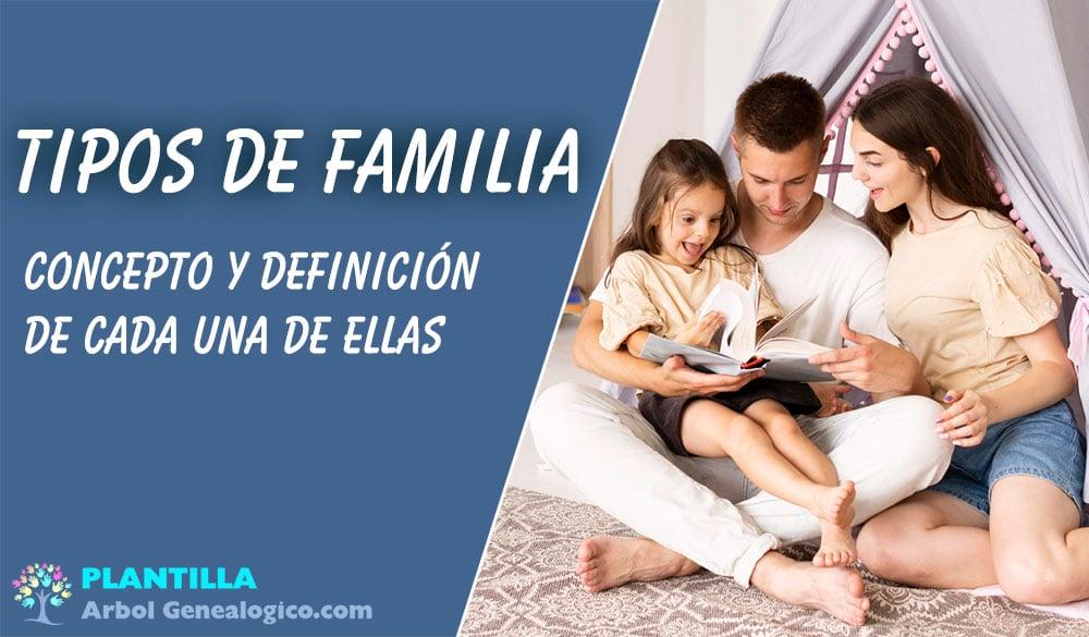 ▷ 🧿 Tipos de Familia: Concepto y Definición 【¿Cuál es la tuya?】