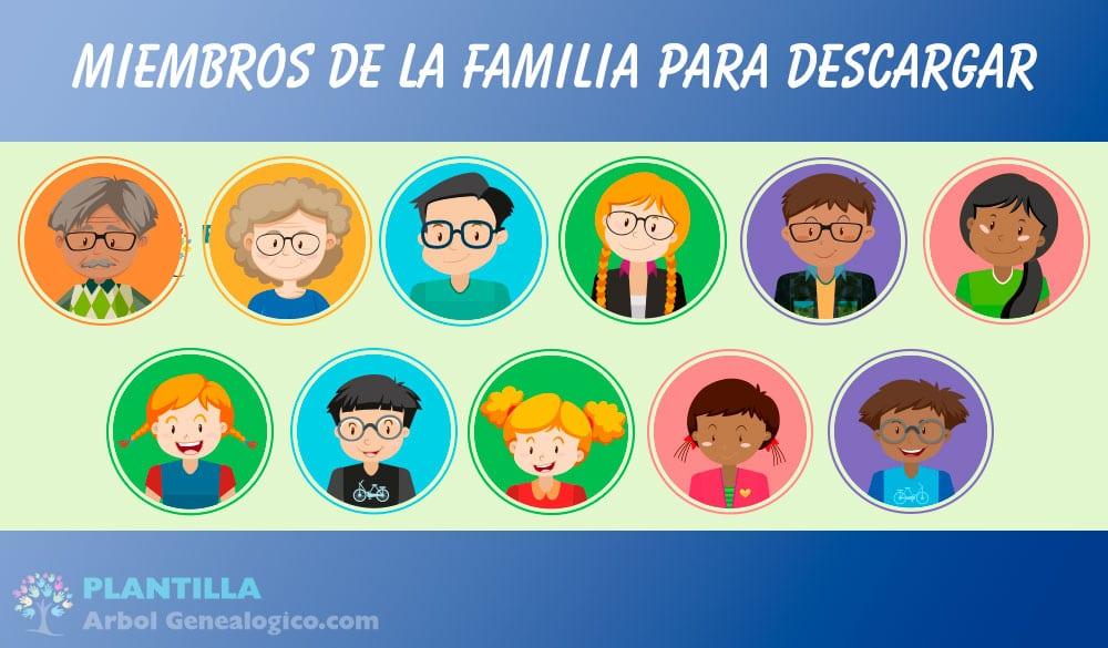 Miembros de la familia - Árbol genealógico para niños